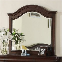 Elements Cameron Mirror in Traditional Cherry