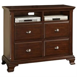 Picket House Furnishings Brinley 4 Drawer Media Chest in Cherry