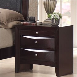 Elements Emily Nightstand in Merlot