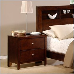 Elements Fleming Nightstand in Rich Cherry