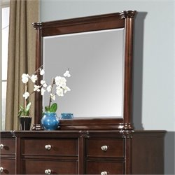Elements Hamilton Mirror in Warm Brown Cherry