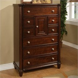 Picket House Furnishings Hamilton Chest in Warm Brown Cherry