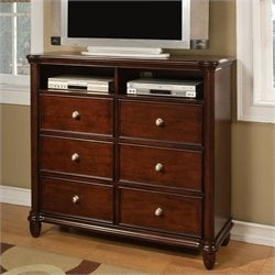 Elements Hamilton Media Chest in Warm Brown Cherry