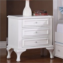 Elements Jesse Nightstand in White