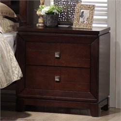 Elements London Nightstand in Warm Cherry