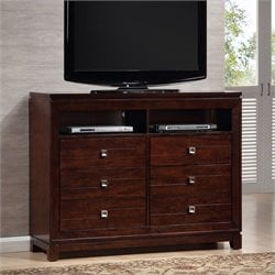 Picket House Furnishings London TV Stand in Warm Cherry