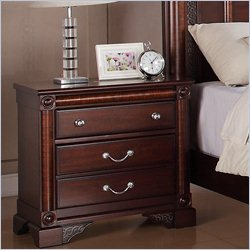 Elements Regent Nightstand in Deep Rich Cherry