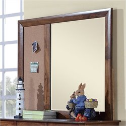 Elements Tucson Youth Mirror in Light Brown Lacquer
