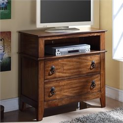 Elements Tucson Youth TV Stand in Light Brown Lacquer