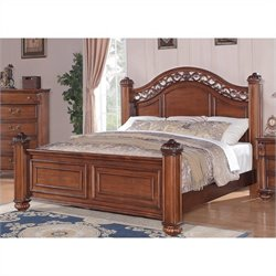 Elements Barkley Square Bed in Warm Pine - Queen