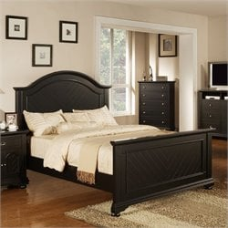 Elements Brook Panel Bed in Black
