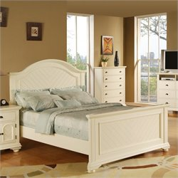 Picket House Furnishings Brook Panel Bed in Cottage White