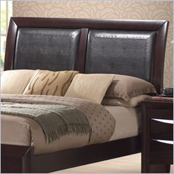 Elements Emily Sleigh Headboard in Merlot - Twin
