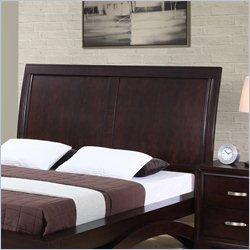 Elements Raven Sleigh Headboard in Espresso - Queen