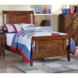 Elements Tucson Youth Bed in Light Brown Lacquer