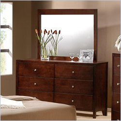 Elements Fleming Dresser and Mirror in Rich Cherry