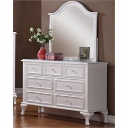 Picket House Furnishings Jesse Dresser and Mirror in White