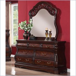 Elements Tuscany Dresser and Mirror in Multi-toned Cherry