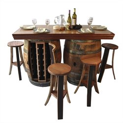Napa East Collection Wine Barrel Bar and Island Set