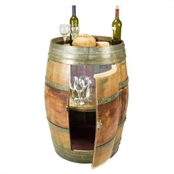 Napa East Collection Whole Refinished Wine Barrel Cabinet