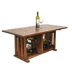Napa East Collection Coffee Table with Wine Rack