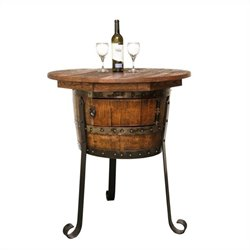 Napa East Collection Old World Table with Cabinet