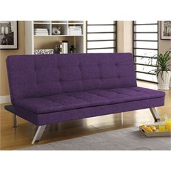 Primo International Deejay DJ Jive Convertible Sofa in Purple