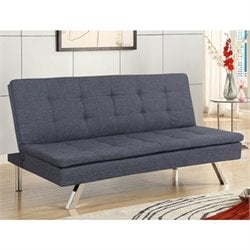 Primo International Deejay DJ Jive Convertible Sofa in Charcoal