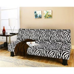 Primo International Deejay Maple Convertible Sofa in Zebra