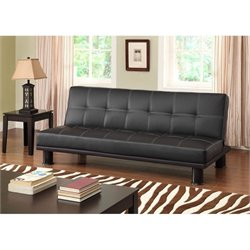 Primo International Deejay Phyllo Convertible Sofa in Black