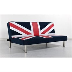 Primo International Best Choice Convertible Sofa in Blue-Red and White