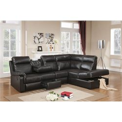 Primo International Parisian Julien 2 Piece Sectional in Dark Brown