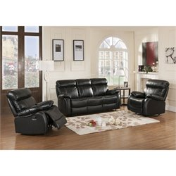 Primo International Parisian Chateau 3 Piece Sofa Set in Night