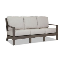 Sunset West Laguna Patio Sofa with Cushions in Driftwood