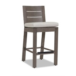 Sunset West Laguna Patio Stool with Cushions in Driftwood