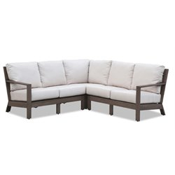 Sunset West Laguna Patio Sectional with Cushions in Driftwood