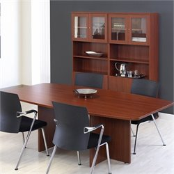 Jesper Office 100 Collection Boat Shaped Meeting Table in Cherry