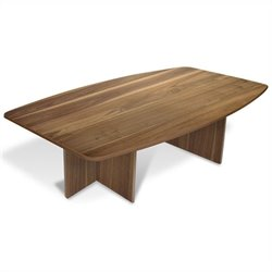 Jesper Office 100 Collection Boat Shaped Meeting Table in Walnut