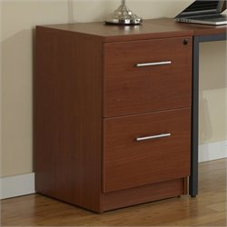Jesper Office 100 Collection Desk High File Cabinet in Cherry