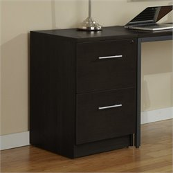 Jesper Office 100 Collection Desk High File Cabinet in Espresso
