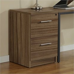 Jesper Office 100 Collection Desk High File Cabinet in Walnut