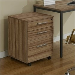 Jesper Office 100 Collection Mobile Pedestal in Walnut