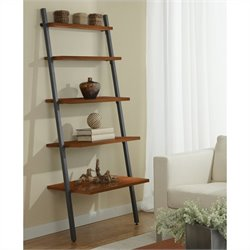 Jesper Office 100 Parson Collection 5 Tier Ladder Bookcase in Cherry