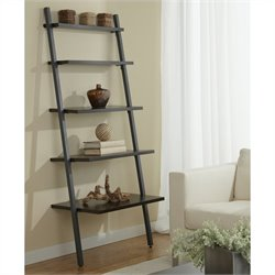 Jesper Office 100 Parson Collection 5 Tier Ladder Bookcase in Espresso
