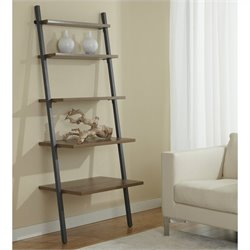 Jesper Office 100 Parson Collection 5 Tier Ladder Bookcase in Walnut