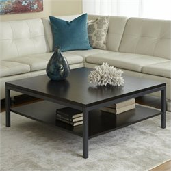 Jesper Office 100 Parson Collection Square Coffee Table in Espresso