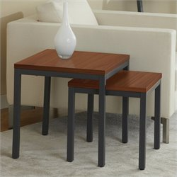 Jesper Office 100 Parson Collection Nesting Tables in Cherry(set of 2)