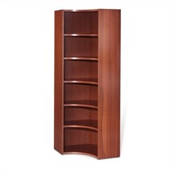 Jesper Office 2000 Collection Inside Corner Bookcase in Cherry