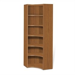 Jesper Office 2000 Collection Inside Corner Bookcase in Teak