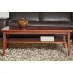 Jesper Office 2000 Entertainment Collection Rectangular Coffee Table in Cherry